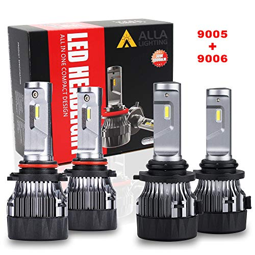 9006 9005 Combo Low High Beam White 48-3014 SMD LED Light Bulbs Projector
